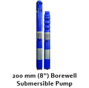"""200 mm (8"""") Bore well Submersible Pumps"""